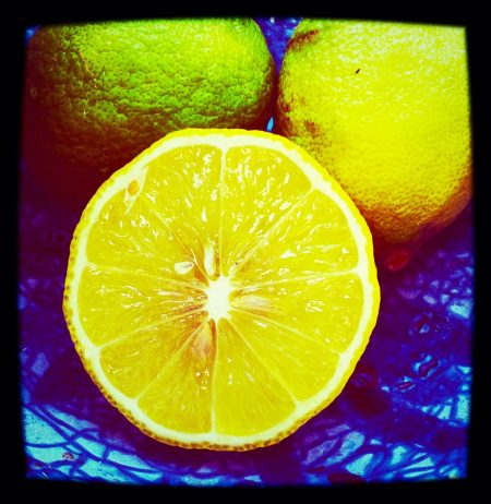 lemon squeezed