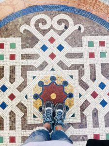 pavement in milan detail