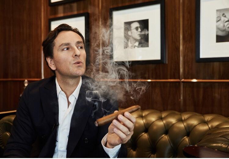 Jean-Phillipe Clairmont smoking