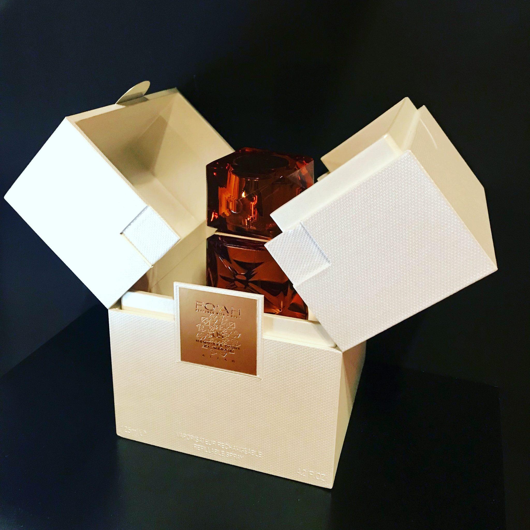 Fo'ah perfume packaging