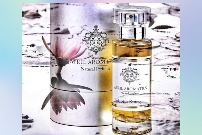 Lotus Rising perfume bottle April Aromatics